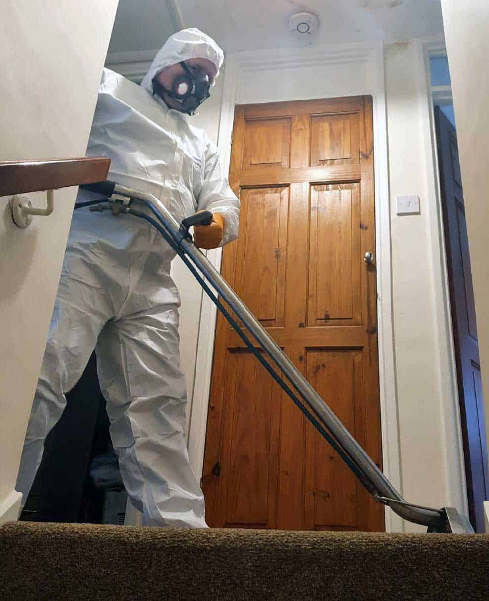 Carpet Cleaning with customer health care
