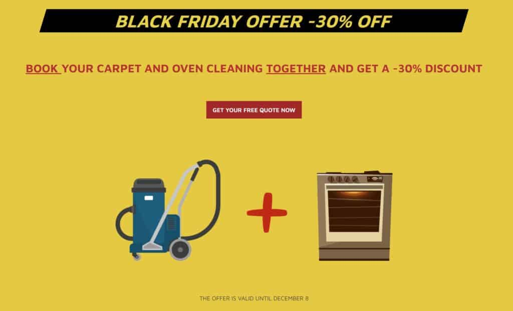 Black friday offer -30 OFF Carpet + Oven Cleaning Combo